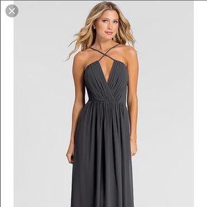 Bill Levkoff formal bridesmaid dress blue purple 4